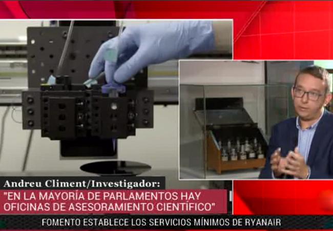 Reportaje sobre la iniciativa #CienciaenelParlamento en el programa Parlamento del Canal 24h de RTVE