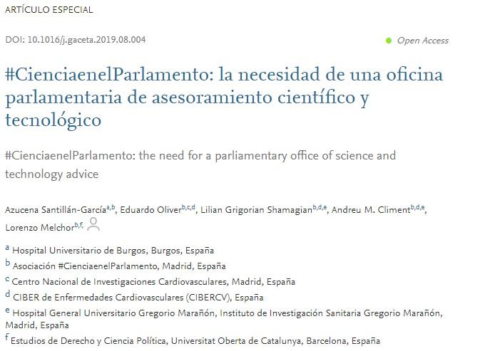 #CienciaenelParlamento: la necesidad de una oficina parlamentaria de asesoramiento científico y tecnológico